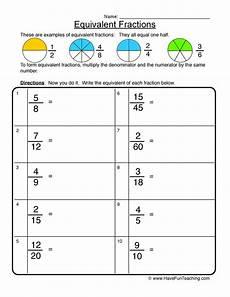 decimal equivalent worksheets 7115 equivalent fractions worksheet 1