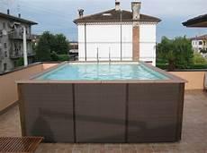 rechteckiger pool zum aufstellen dolcevita woody rattan dass rechteckige