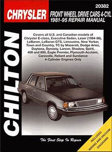 free online auto service manuals 1992 chrysler new yorker spare parts catalogs e class laser lebaron gts aries daytona repair manual 1981 1995
