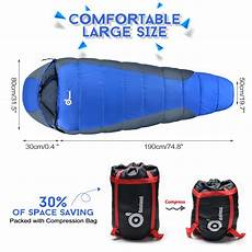 Winter Outdoor Sleeping Soft 190t Pongee by Lightweight Sleeping Bag Cing Backpacking Cold Weather
