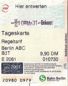 Day Pass To 9 90 Deutsche Marks Front Tram Travels