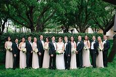 ivory and black wedding party elizabeth designs