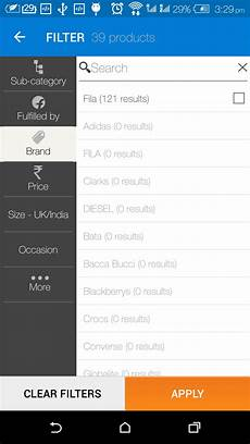 android filters how to make filter tab like flipkart in android stack