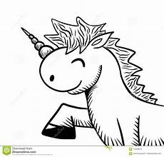 Unicorn Malvorlagen Terbaik Cheerful Unicorn Doodle Stock Illustration Illustration Of