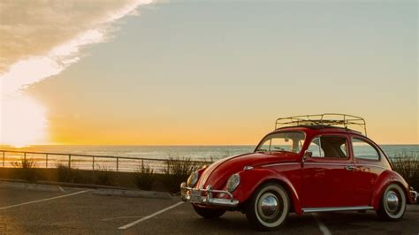 Classic Red Vw Beetle Wallpaper