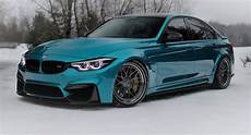 bmw m3 with subtle mods shines in atlantis blue paintjob carscoops