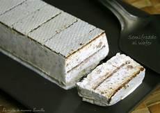 dolce con i wafer semifreddo al wafer torta gelato facile