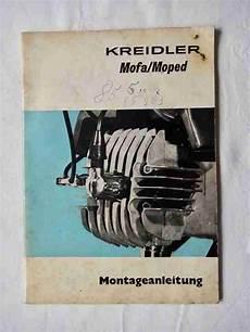 Kreidler Montageanleitung Mofa 25 Mf4 Moped Bestes