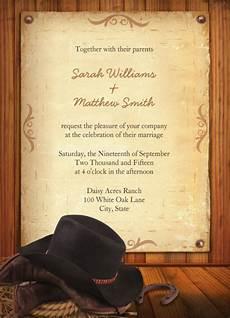 Western Wedding Invitations Templates