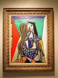 Picasso Women Seated in a Chair