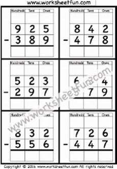softschools subtraction with regrouping worksheets 10711 subtraction regrouping free printable worksheets worksheetfun