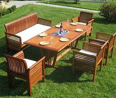 Gartenmöbel Set Holz - gartenm 246 bel set sitzgruppe fsc holz big family incl