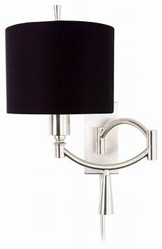 ra ii black shade plug in swing arm wall light contemporary l shades by lighting luxury