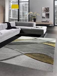 teppich gelb grau teppich modern teppich wohnzimmer wellen gelb grau pastell