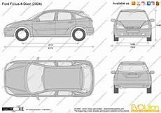 Ford Focus 4 Door Vector Drawing