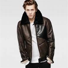 pilot leather jacket nett brown herren g 174
