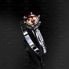 dragon ball z natural diamond white yellow gold ring