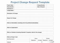 project change request template exceltemple change request templates change management