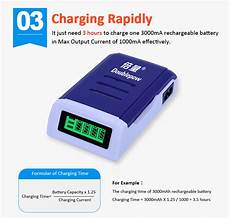 Doublepow Slot Rechargeable Battery Charger by Doublepow 1 2v 4 Slots Intelligent Battery Charger For Aa