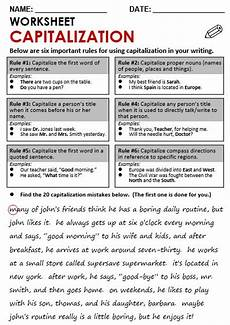 capitalization and punctuation worksheets for grade 3 20998 six important of capitalization grammar