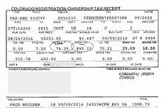 colorado registration ownership tax receipt colorado registration ownership tax receipt colorado tax aide resources