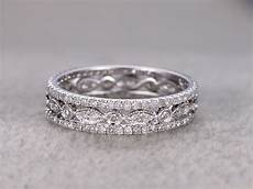 diamond wedding ring sets white gold full eternity band