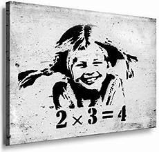 Keilrahmen Bilder Schwarz Weiß - fotoleinwand24 banksy graffiti 2x3 4 quot aa0117 bild