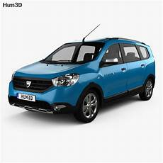 dacia lodgy stepway 2014 3d model vehicles on hum3d