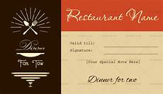 Dinner Gift Card Template Dinner For Two Gift Certificate Templates Editable