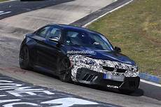 bmw m2 lci 2018 bmw m2 lci f87 spied looking committed on the green hell autoevolution