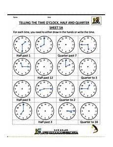 time worksheets o clock half past quarter past quarter to 3123 time worksheets telling the time quot half past quot quot quarter to quot etc clock worksheets telling time