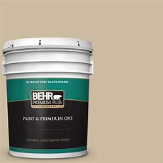 behr premium plus 5 gal ppu8 10 rye bread gloss enamel exterior paint and primer in one