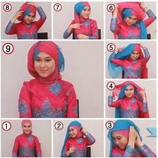 Cara Pakai Jilbab Dua Warna Untuk Pesta Kumpulan Contoh