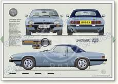 jaguar xj6 dimensions jaguar xjs 4 0 convertible 1992 93 classic car portrait print