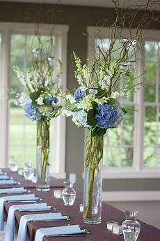 blue and white reception wedding flowers wedding decor wedding flower centerpiece wedding