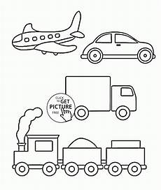 transportation vehicles coloring pages 16403 simple coloring pages of transportation for toddlers coloring pages printables free wuppsy