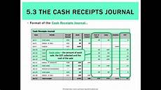 5 3 the cash receipts journal youtube