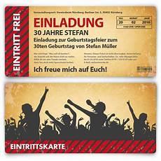 gestaltung einladungskarten geburtstag geburtstagseinladungskarten als vintage ticket
