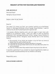 request letter for teachers transfer