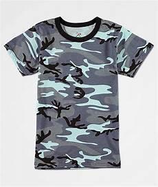 rothco boys sky blue camo t shirt zumiez