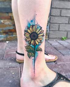 vivacious and gregarious sunflower tattoo designs which