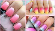 diy ombr 233 nail art easiest tutorial ever