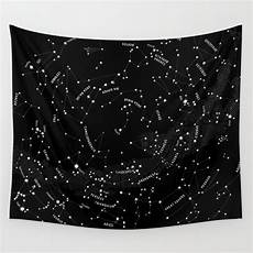 constellation map black wall tapestry by mmerlin society6