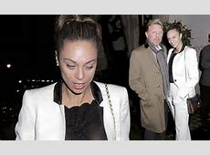 Boris Becker's wife Lilly flashes her bra in a sheer top