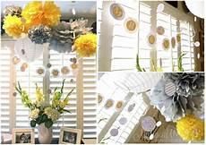 yellow grey bridal wedding shower party ideas photo 1