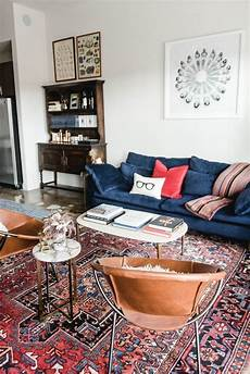 eclectic bachelor an industrial eclectic bachelor pad in blue