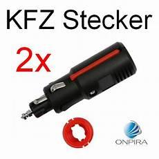 kfz stecker 12v 2x kfz auto motorrad stecker zigarettenanz 252 nder lkw 6v 12v