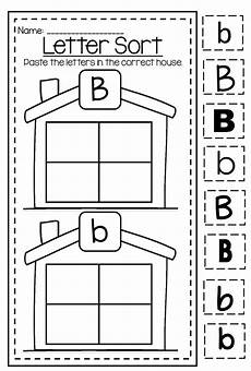 letter b worksheet for kindergarten 23447 letter b capital and lower differentiation alphabet printable worksheet bundle with