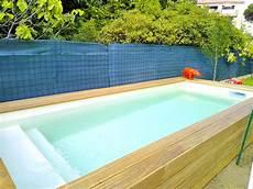 micro piscine bois construction installation d am 233 nagement de mini piscine