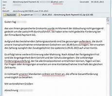 spam abrechnung bank payment ag 187 bits meet bytes